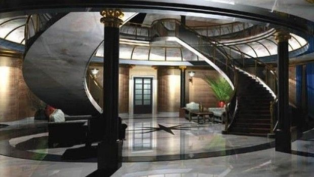 One of the communal areas for the VIPs living in the five-star doomsday shelter, Vivos Europa One.