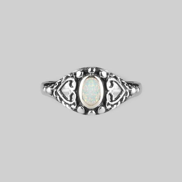 KAYA. Detailed Opal Silver Ring – REGALROSE