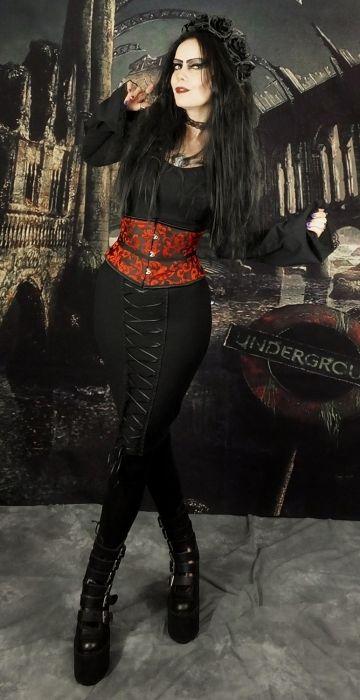 Morvoren Pencil Skirt - fitted cotton lycra gothic steampunk miniskirt by Moonmaiden Gothic Clothing UK