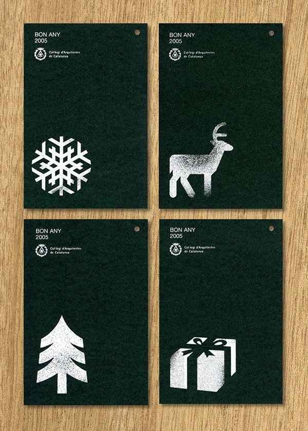 COAC Christmas cards on Behance