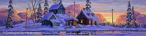 Vladimir Horik, '5 à 7', 12'' x 48'' | Galerie d'art - Au P'tit Bonheur - Art Gallery