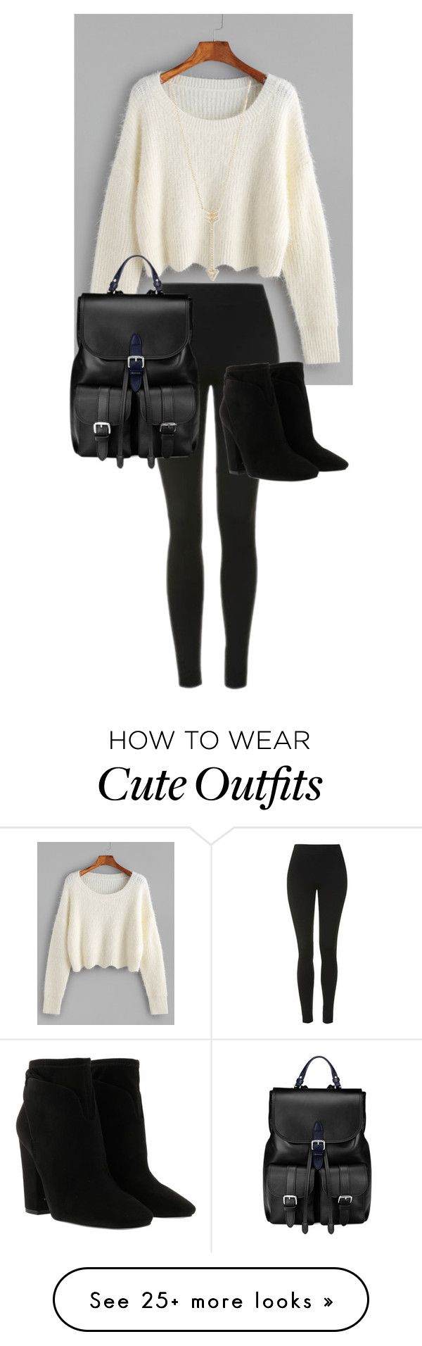 """""""Lazy but cute outfit for school"""" by pysaralina on Polyvore featuring Topshop, Kendall + Kylie, Aspinal of London and EF Collection"""