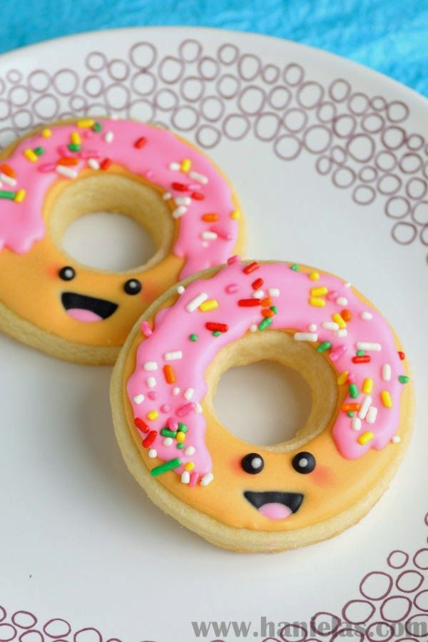 Haniela's: Kawaii Decorated Donut Cookies