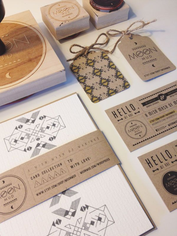 Moon Mud is the collective company of Michelle & Danielle Brutto #identity #branding #stationary