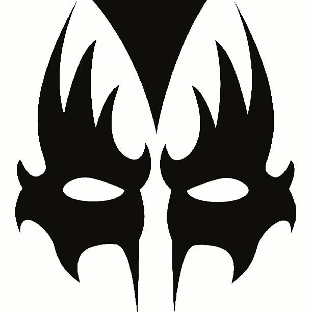 kiss mask template gene simmons kiss makeup stencil bing images gene