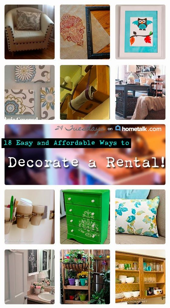 18 Easy and Affordable Ways to Decorate a Rental | curated by '29 Tuesdays' blog!