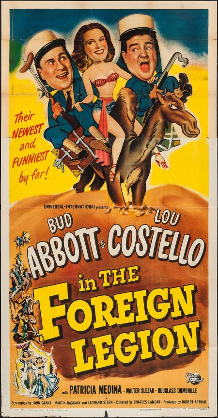 """Movie Posters:Comedy, Abbott and Costello in the Foreign Legion (Universal International,1950). Three Sheet (41"""" X 79""""). Comedy.. ... Image #1"""