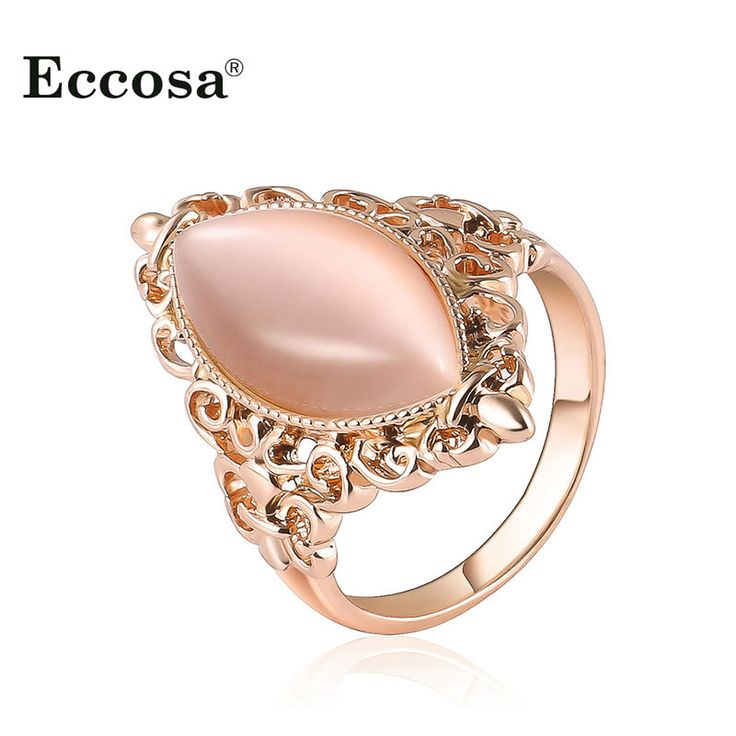 Women Colorful Copper Crystal Rhinestone Ring Gold Plated Diamond Ring Gift y7tBvE