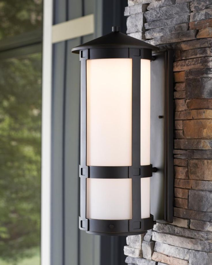 ... Frame And Linear Banding Detail, The Groveton Outdoor Lighting  Collection By Sea Gull Lighting Is A Modern Interpretation Of Classic Arts  And Crafts ...