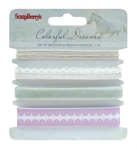 "Set of decorative ribbons, ""Colorful dreams"""