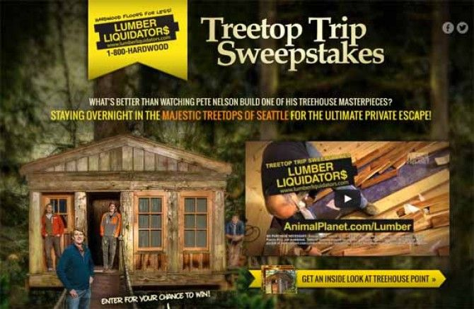 Animal Planet: Treetop Trip Sweepstakes