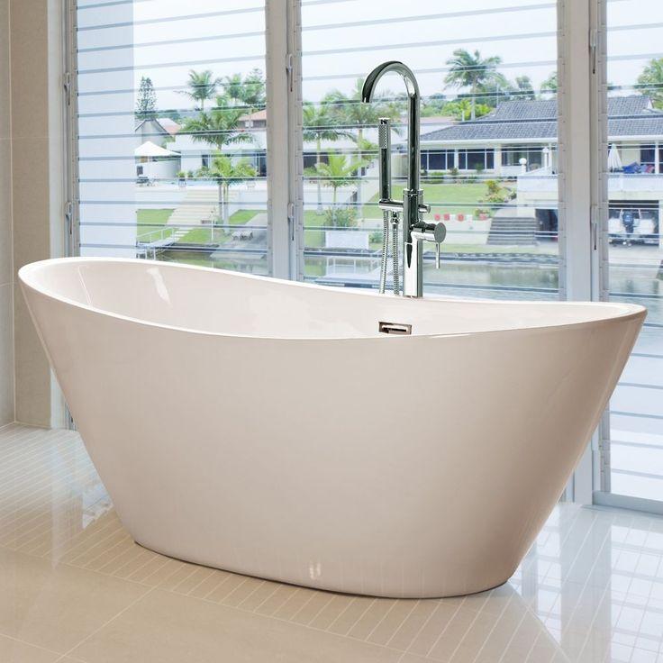 Freistehende Badewanne Standbadewanne Wanne Armatur Standarmatur 170 x 80 H613