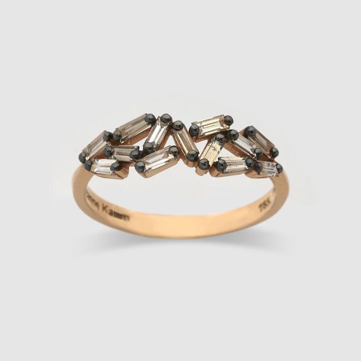 Suzanne Kalan Baguette Firework Ring (Rose Gold) - http://shop.doverstreetmarket.com/dsm-selections/dsm-jewellery/suzanne-kalan/suzanne-kalan-baguette-firework-ring-rose-gold