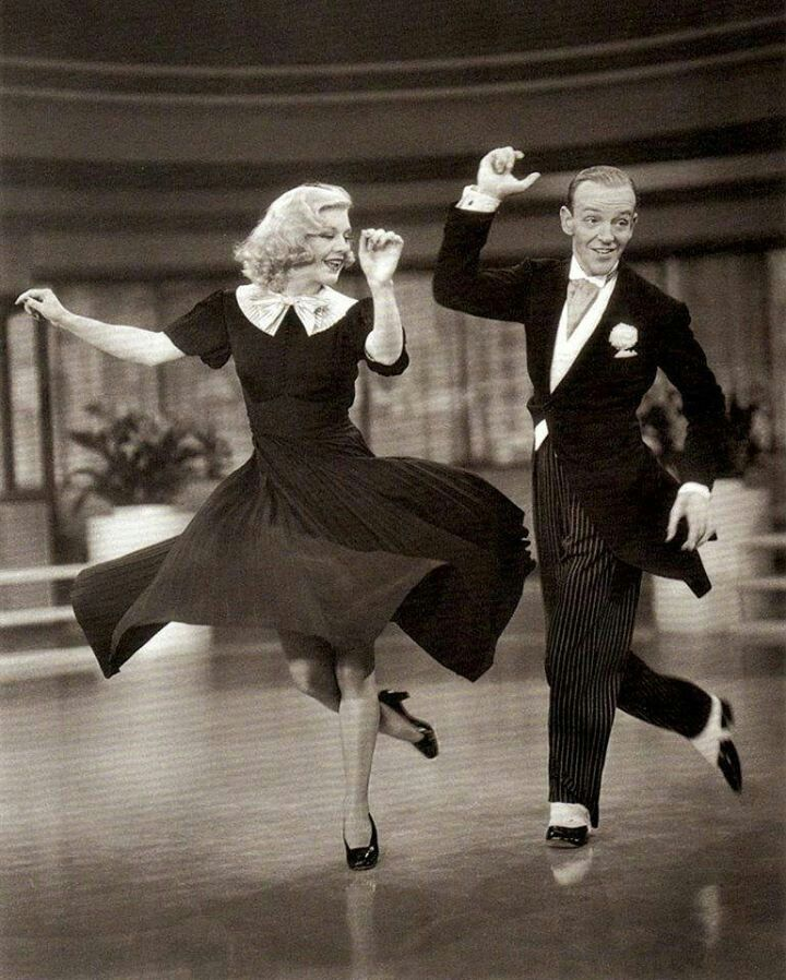 Ginger Rogers and Fred Astaire. This is a still from the movie Shall We Dance?