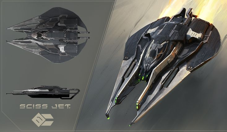 Sciss Jet, Peter Rossa on ArtStation at https://www.artstation.com/artwork/yYx2n