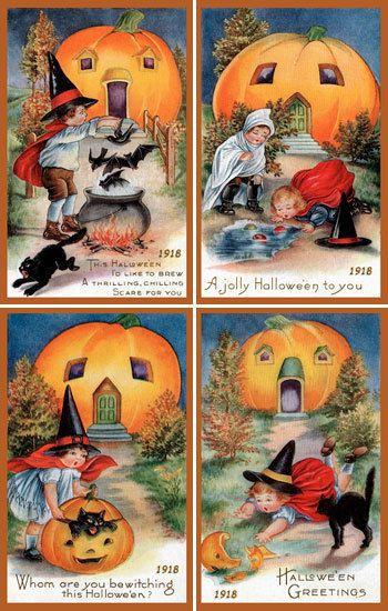 Olde America Antiques | Quilt Blocks | National Parks | Bozeman Montana : Halloween - Halloween Set 4