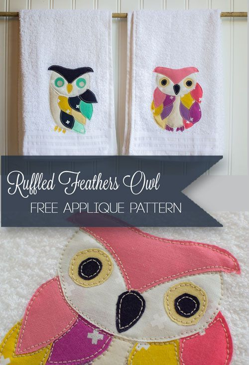 Applique of the Month: The Ruffled Feathers Owl — SewCanShe   Free Daily Sewing Tutorials
