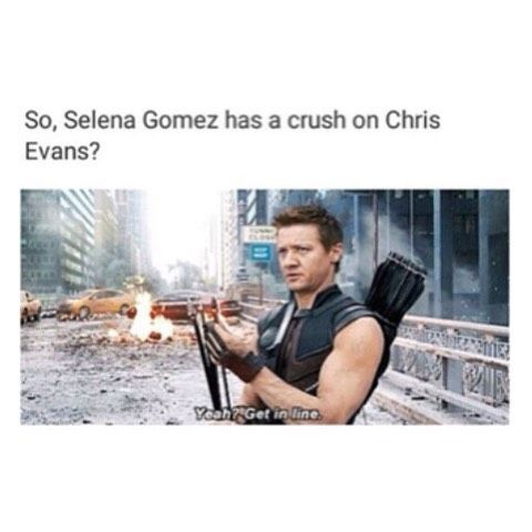 I'm not sure when/if she did, but basically anytime anyone has a crush on Chris Evans