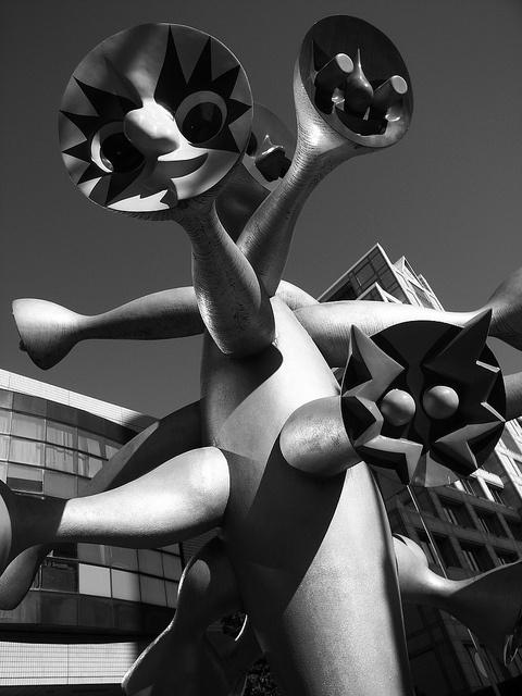 Statue by Taro OKAMOTO, Japan