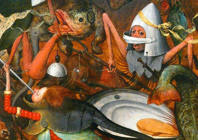 Pieter Bruegel the Elder (ca 1525-1569), The Fall of the Rebel Angels, 1562, detail, oil on oak