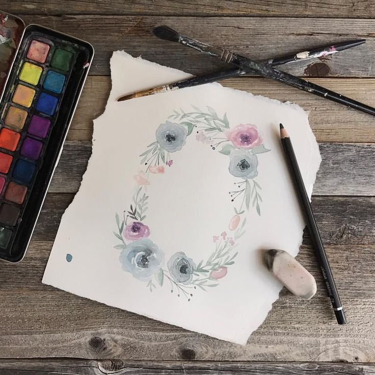 26 vind-ik-leuks, 4 reacties - Rachel Nieman (@artbynieman) op Instagram: 'Watercolor floral wreaths are what Fridays are made of!!'