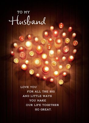 Husband Fathers Day Candles Father's Day Card