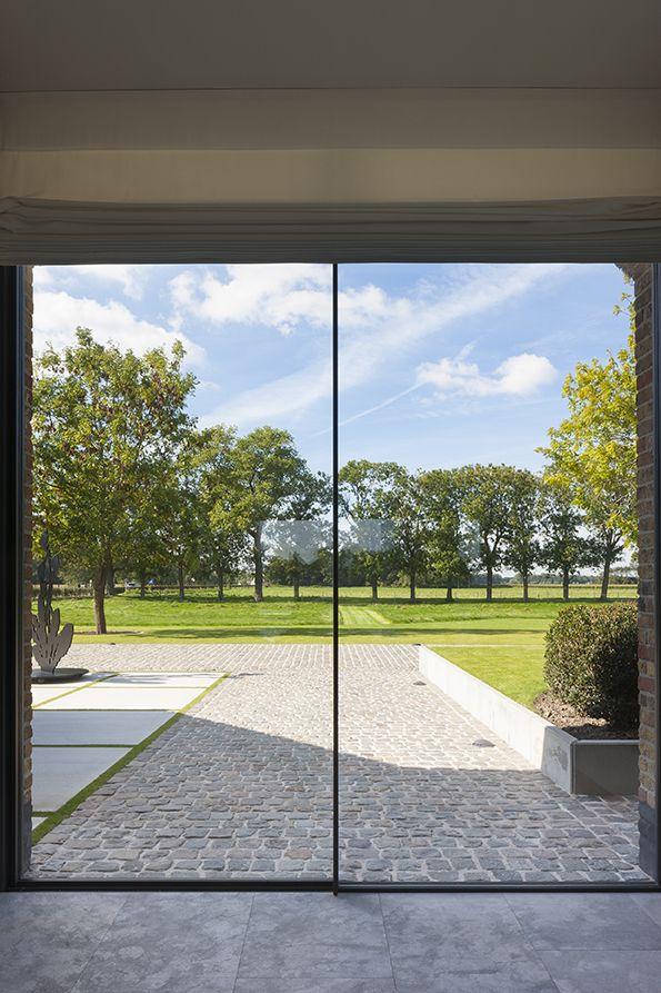 Vitrocsa Minimal Windows by Vorsselmans - Renovation of a farmhouse in Knokke Belgium