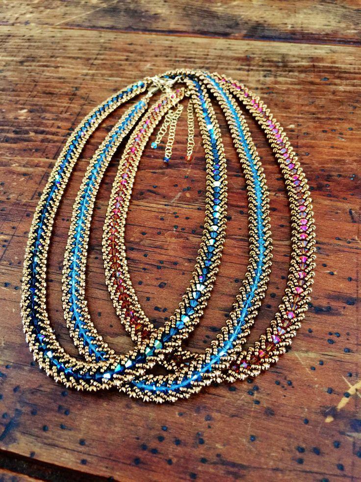 Chaîne élégante cristal perles collier de perles collier en