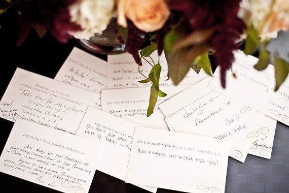 Wedding Conversation Cards by printyourparty on Etsy, $20.00