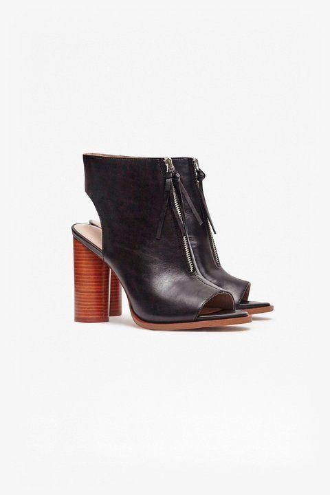Utarra Zip Front Peep Toe Boots  eb7f183a2