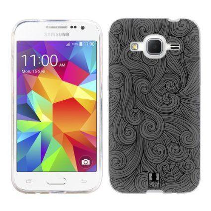 Head Case Designs Grigio Scuro Girandole Vivide Cover Morbida in Gel per Samsung Galaxy Core Prime G360