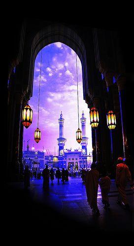 Masjid al-Haram. Makkah, Saudi Arabia.  بشر المشائين في الظلم إلى المساجد بالنور التام يوم القيامة