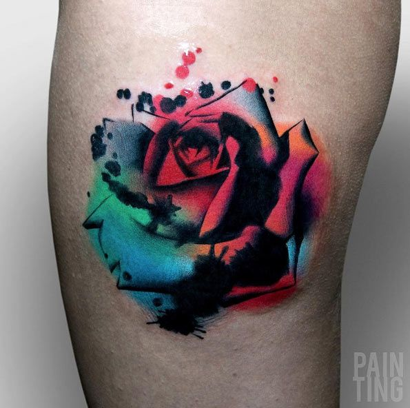 Colorful abstract rose by Szymon Gdowicz