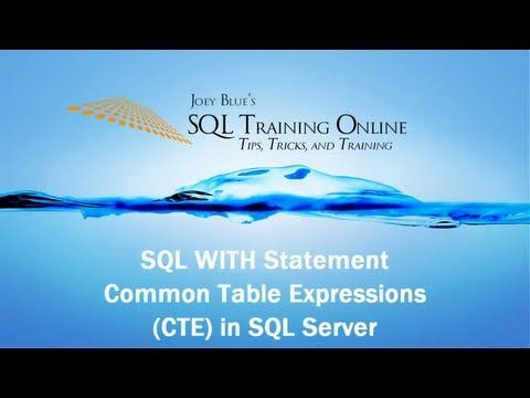 ▶ SQL With - How to Use the With (CTE) Statement in SQL Server - SQL Training Online - YouTube