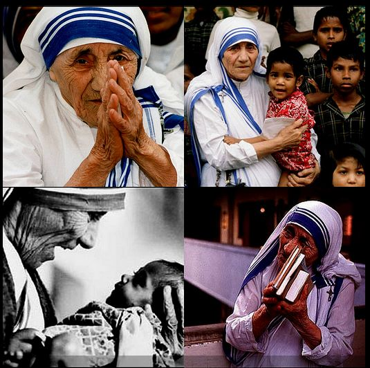 Mother Teresa was a nun who spent most of her life in India helping the poor, sick and hungry people.