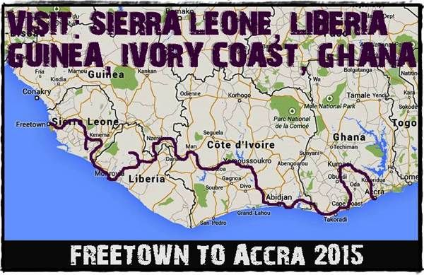 Our overland adventure trip between Freetown, Sierra Leone and Accra, Ghana www.overlandingwestafrica.com/trip-2