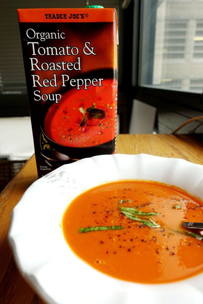 Organic Tomato & Roasted Red Pepper Soup - Trader Joe's - www ...