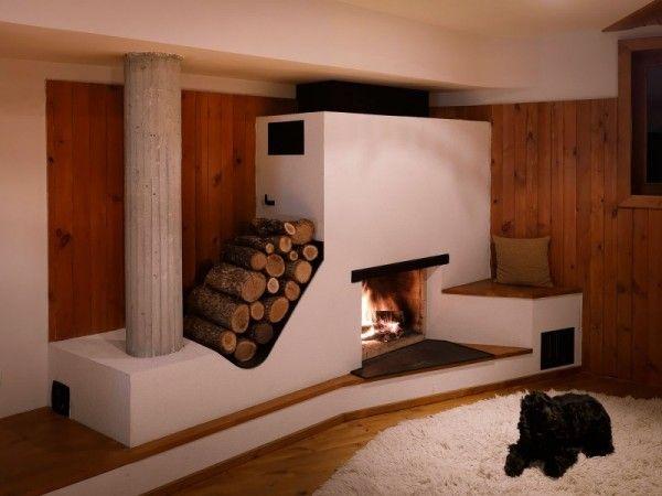 Современная печь на дровах способна без проблем обогреть дом