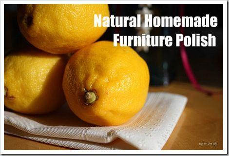 Natural Homemade Furniture Polish {Pledge} - Chemical Free and Frugal!