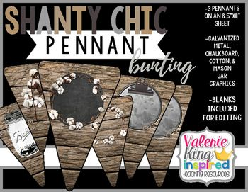 Shanty Chic Collection: Pennant Bunting Banner