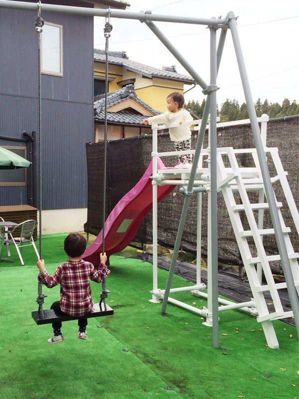 お客様の自慢の作品 新潟県 庭 遊具 砂場 Diy 子供の庭