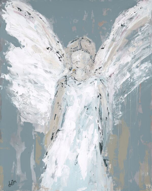 Angel Watching Over You - Fine Art by Deann