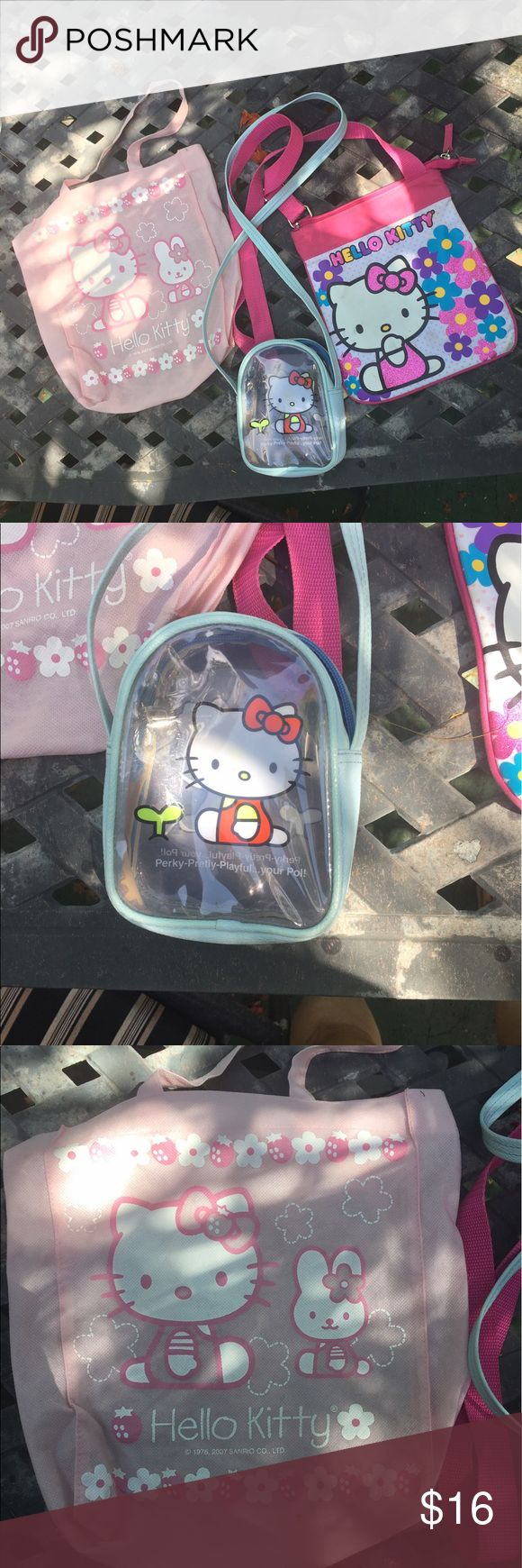 Lot of 3 Hello Kitty purses So cute! Hello Kitty Bags
