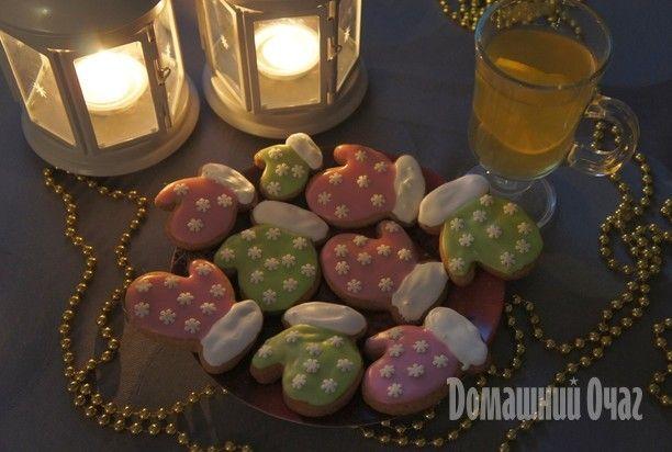 Новогоднее печенье с глазурью