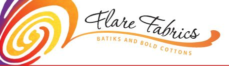 Flare Fabrics - Gorgeous Batiks - Flat rate shipping free over $75 - Sells by the meter