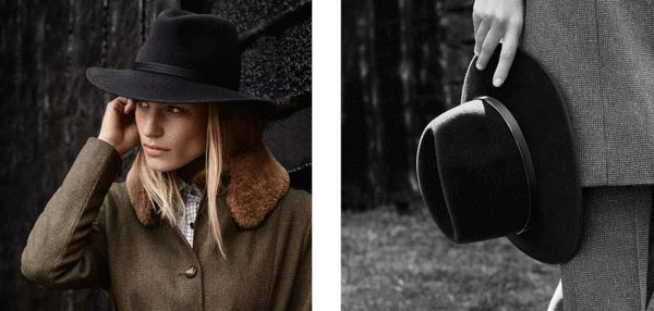 William & Son's AW15 Lookbook, featuring our Charcoal Festival Fedora and Midnight Blue Willow Fedora.