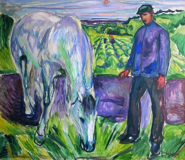 The Athenaeum - Man with Horse (1918) (Edvard Munch - )
