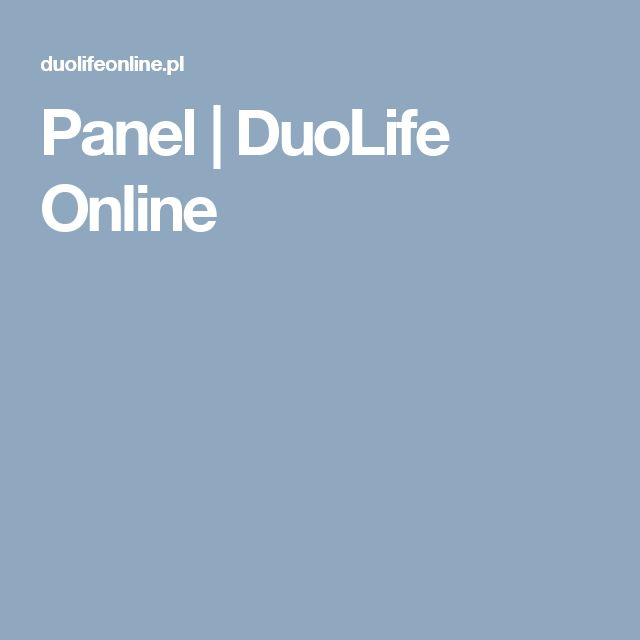 Panel   DuoLife Online