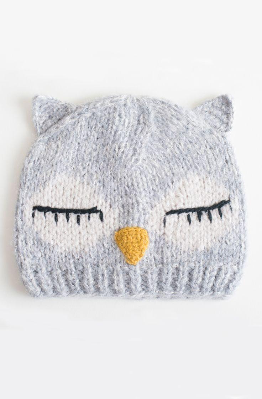 Knitting Pattern Owl Beanie : 1000+ ideas about Owl Hat on Pinterest Crochet Hats, Crocheting and Crochet...