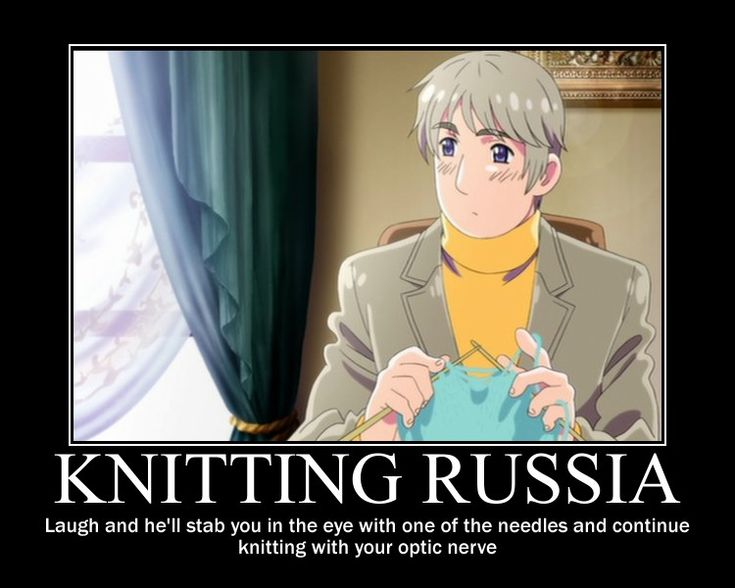 Knitting Humor Posters : Fun anime motivational posters hetalia knitting russia